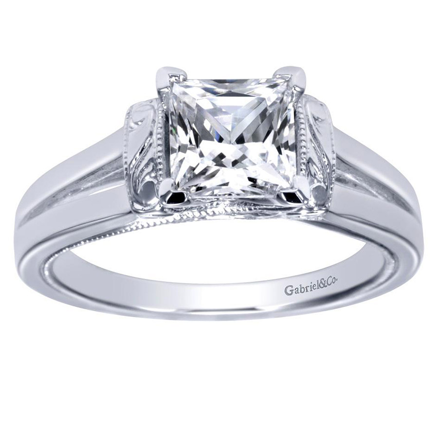 Gabriel Platinum Contemporary Engagement Ring ER9208PTJJJ Alternative View 4