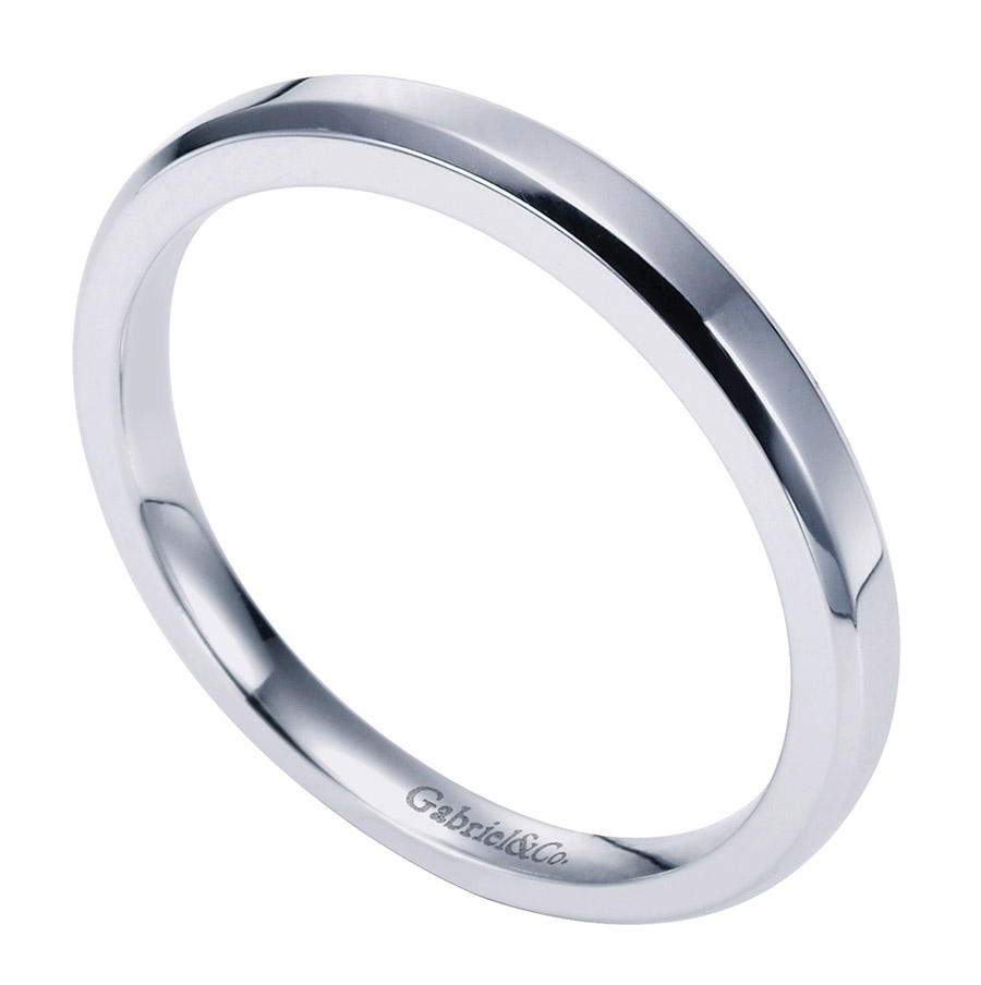 Gabriel Platinum Contemporary Wedding Band WB6591PTJJJ Alternative View 2