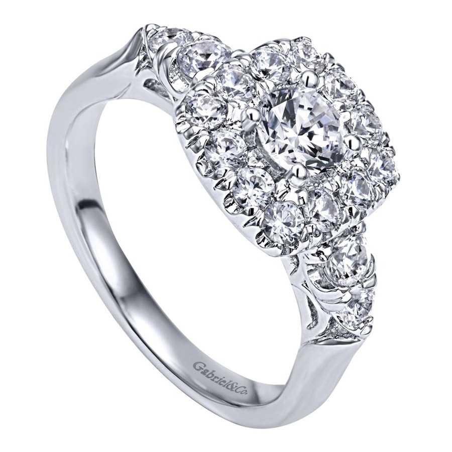 Gabriel 14 Karat Contemporary Engagement Ring ER910292W44JJ Alternative View 2