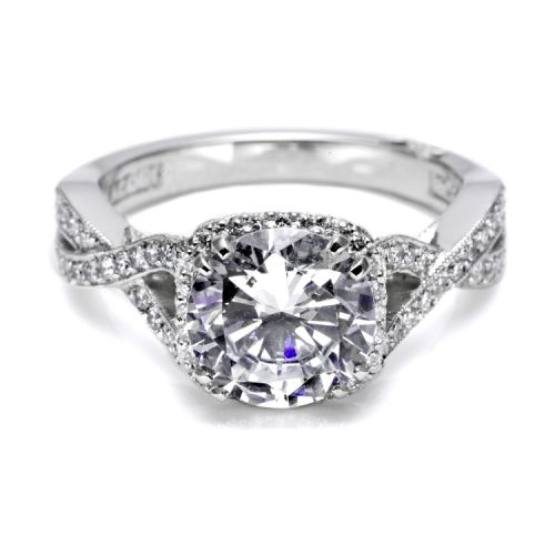 Tacori Dantela Platinum Engagement Ring 2627RDLG Alternative View 2