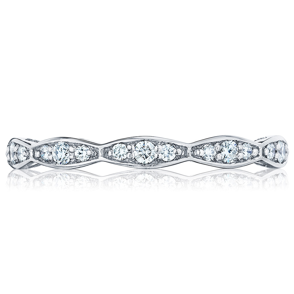 46-2ET Platinum Tacori Sculpted Crescent Diamond Wedding Ring