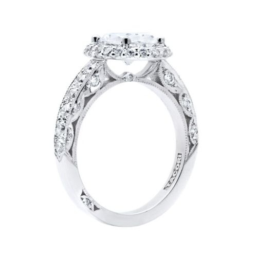 HT2520OV9X7 Tacori Crescent 18 Karat Engagement Ring Alternative View 1