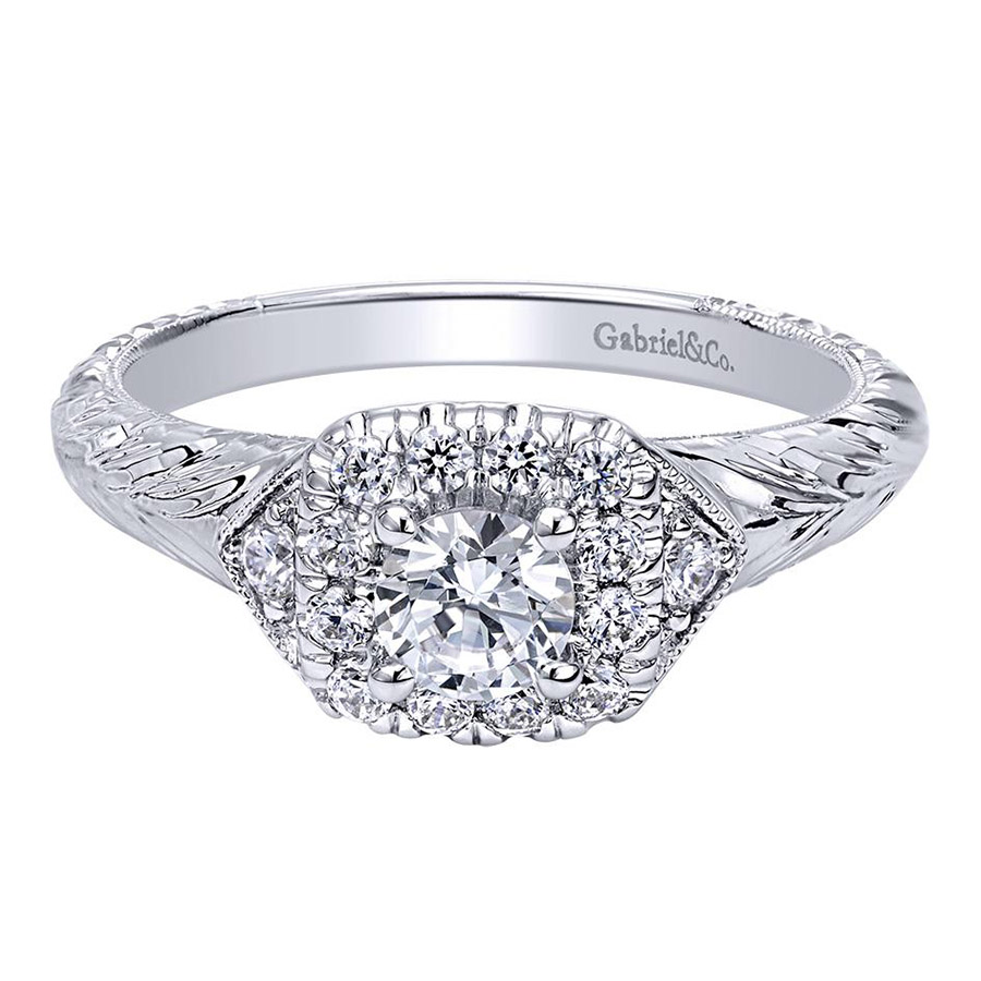 Gabriel 14 Karat Contemporary Engagement Ring ER910421W44JJ