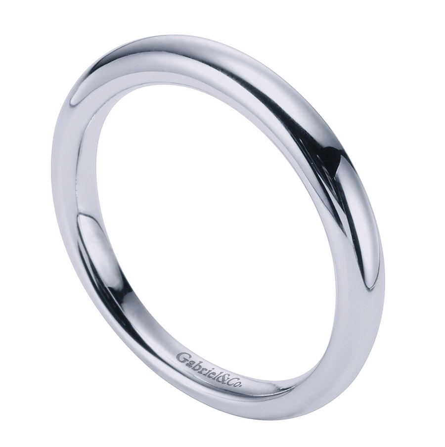 Gabriel Platinum Contemporary Wedding Band WB6600PTJJJ Alternative View 2