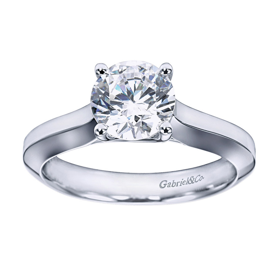 Gabriel Platinum Contemporary Engagement Ring ER6612PTJJJ Alternative View 4