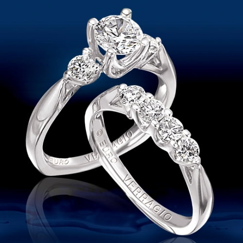Verragio Platinum Euro Engagement Ring EUR-8042