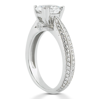 Taryn Collection Platinum Diamond Engagement Ring TQD 7198 Alternative View 2