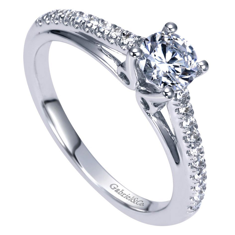 Gabriel 14 Karat Contemporary Engagement Ring ER98556W44JJ Alternative View 2