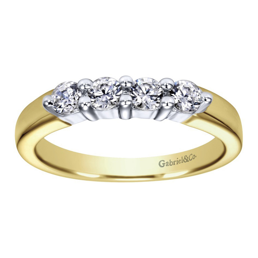 Gabriel 14 Karat Contemporary Wedding Band WB2790M43JJ Alternative View 4