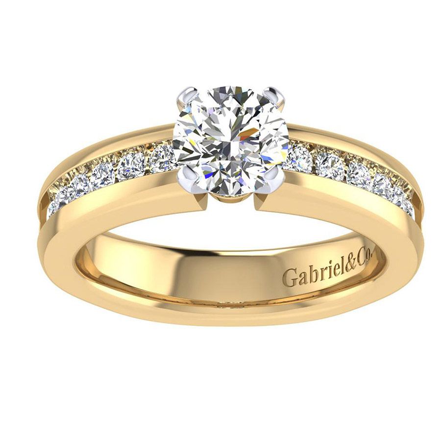 Gabriel 14 Karat Contemporary Engagement Ring ER3986M44JJ Alternative View 4