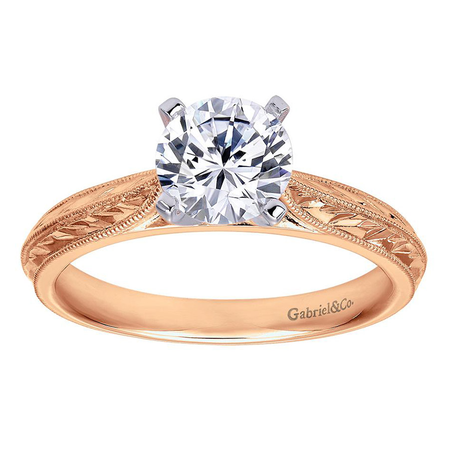 Gabriel 14 Karat Victorian Engagement Ring ER6707T4JJJ Alternative View 4