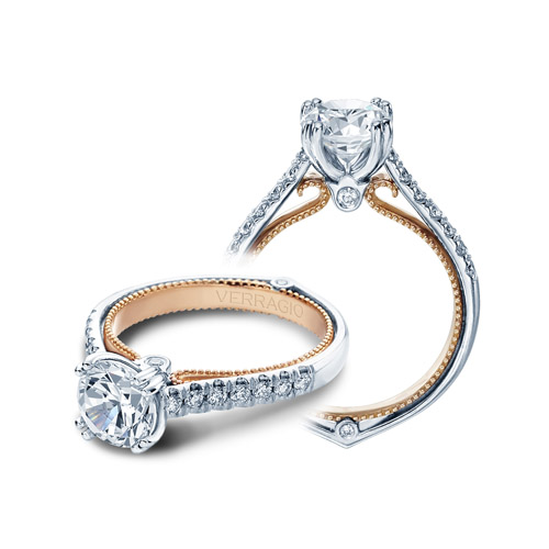 Verragio Couture-0412-TT Platinum Engagement Ring