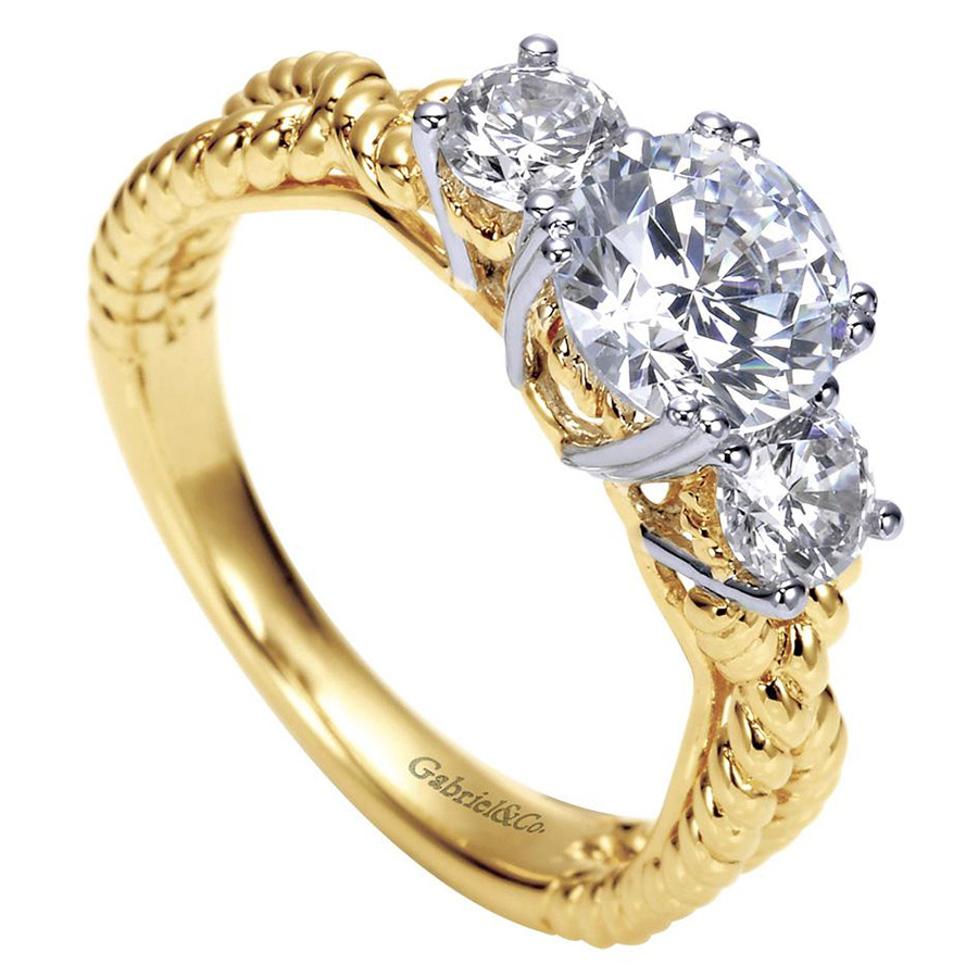 Gabriel 14 Karat Contemporary Engagement Ring ER5368M43JJ Alternative View 2