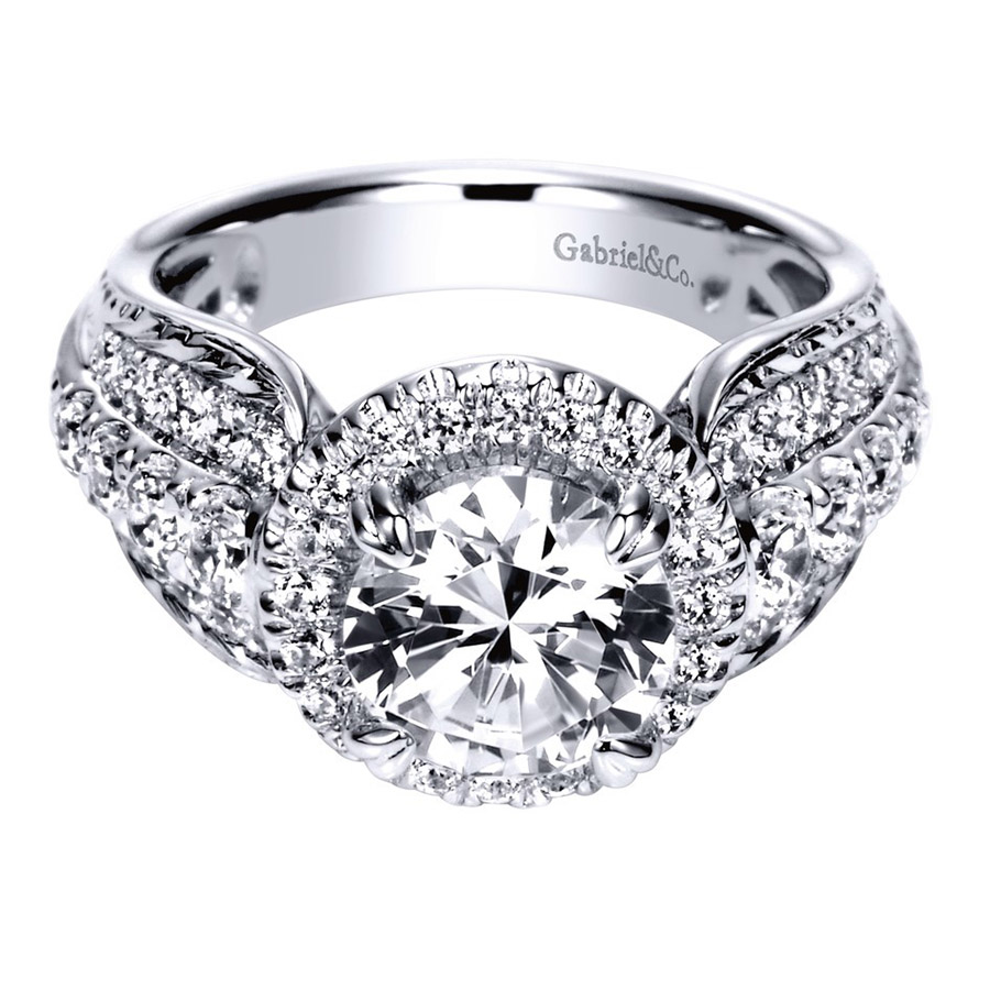 Gabriel 14 Karat Contemporary Engagement Ring ER8473R8W83JJ
