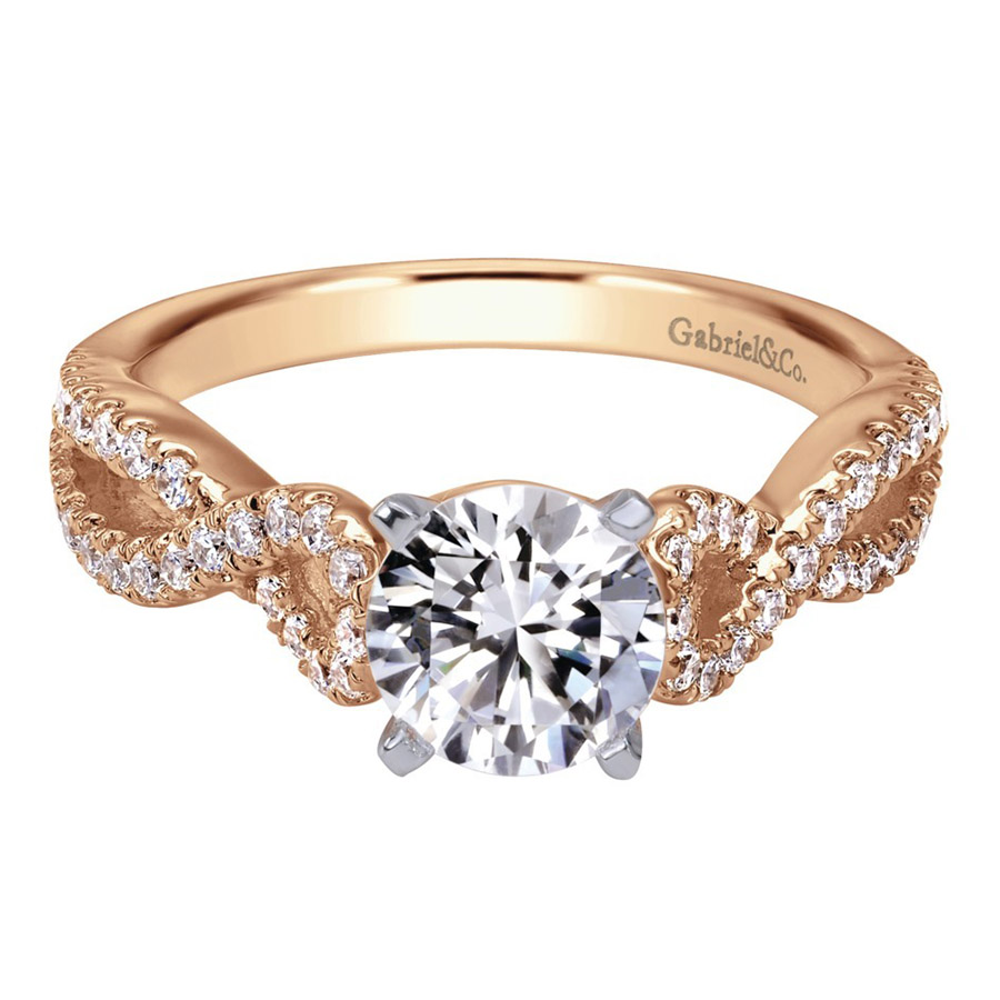 Gabriel 14 Karat Contemporary Engagement Ring ER7805T44JJ