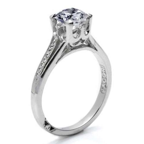 Tacori Platinum Solitaire Engagement Ring 2601RD45 Alternative View 1