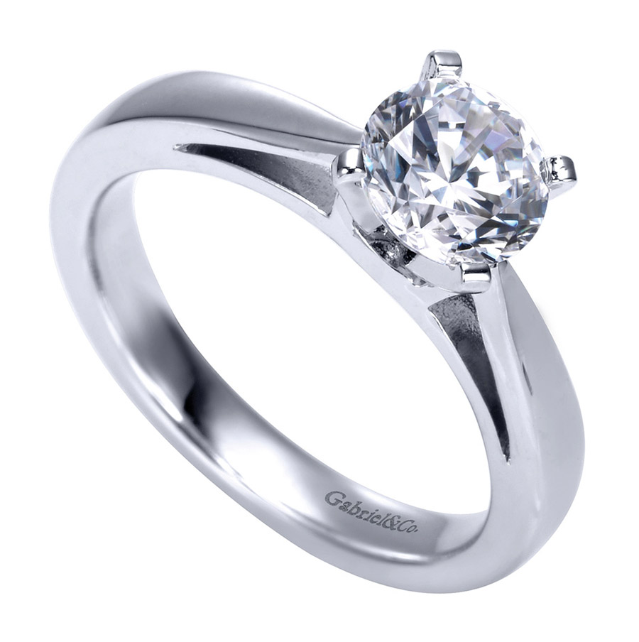Gabriel Platinum Contemporary Engagement Ring ER8132PTJJJ Alternative View 2