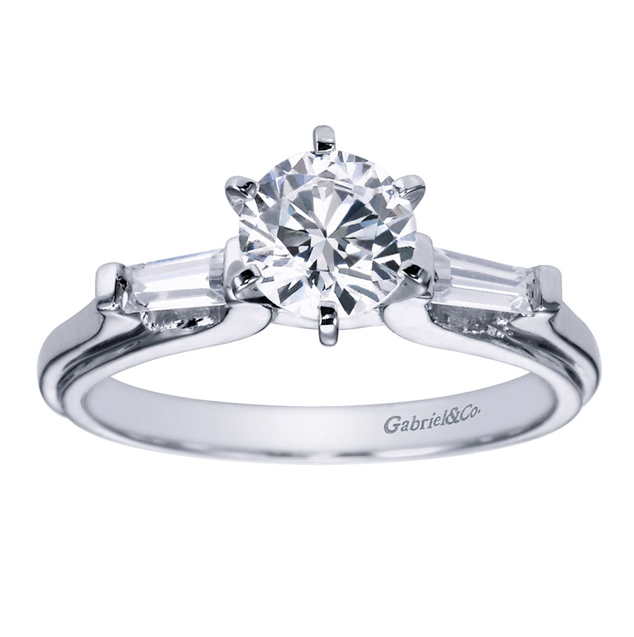 Gabriel 14 Karat Contemporary Engagement Ring ER3694PT3JJ Alternative View 4