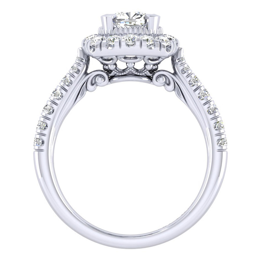 Gabriel 14 Karat Perfect Match Engagement Ring ER039B4AJW44JJ Alternative View 1