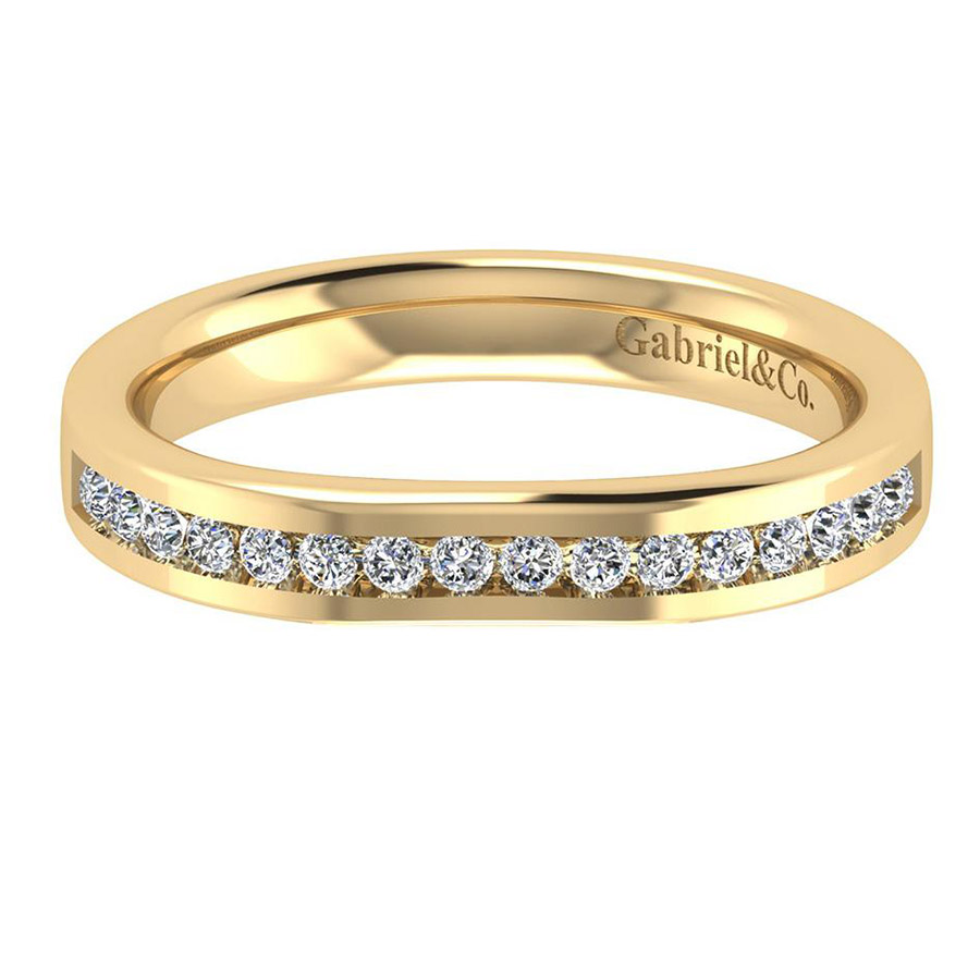 Gabriel 14 Karat Contemporary Wedding Band WB8189Y44JJ
