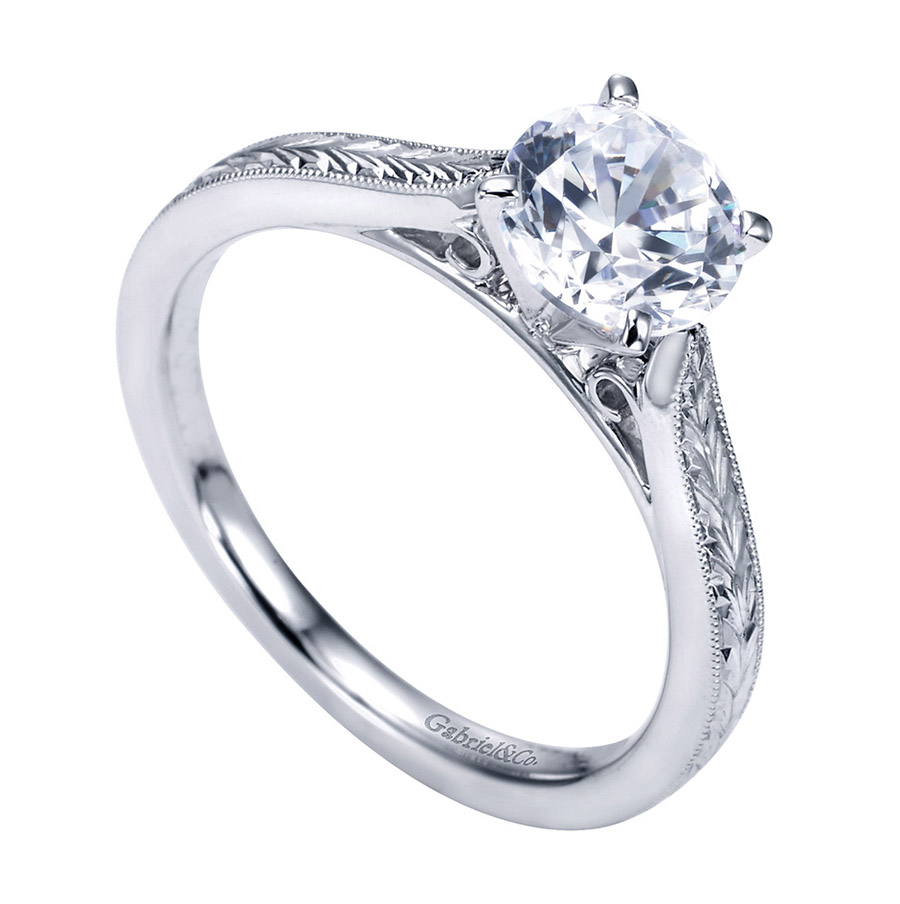 Gabriel Platinum Victorian Engagement Ring ER7223PTJJJ Alternative View 2