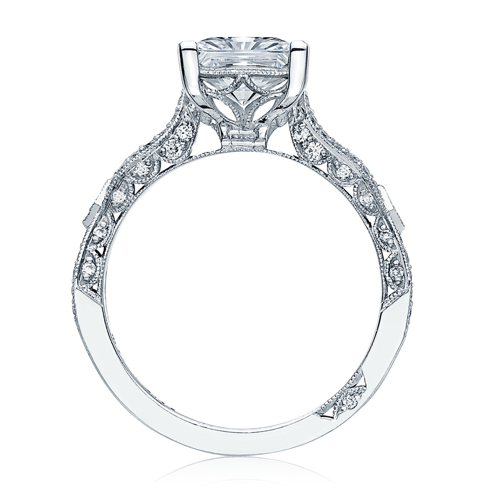 HT2528PR7 Platinum Tacori Ribbon Engagement Ring Alternative View 1