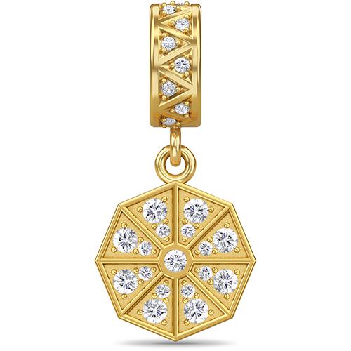 Jennifer Lopez ENDLESS JEWELRY White Star Drop Gold Sterling charme #53850-1