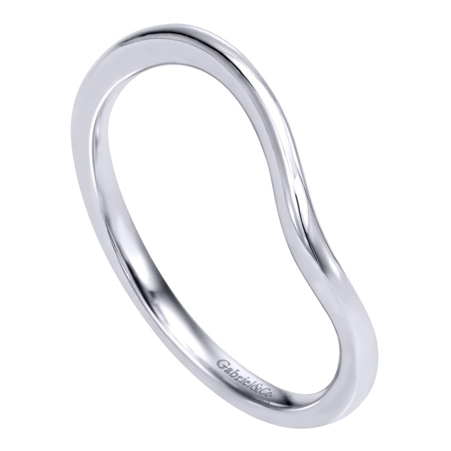 Gabriel 14 Karat Contemporary Wedding Band WB10073W4JJJ Alternative View 2