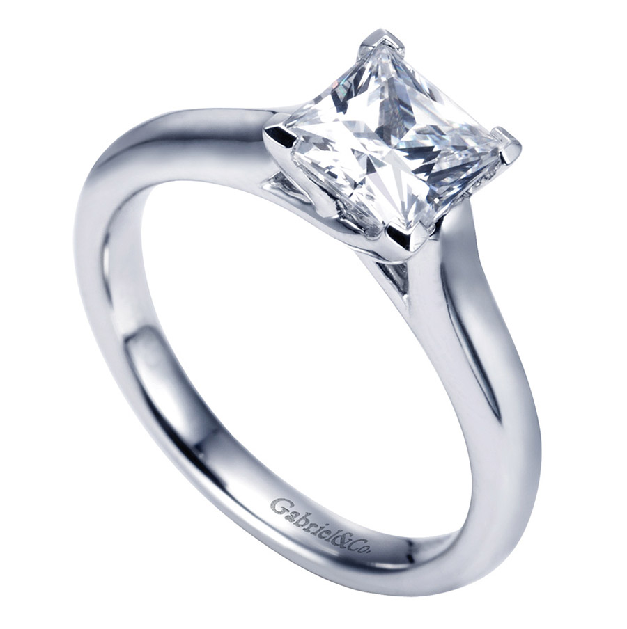 Gabriel Platinum Contemporary Engagement Ring ER6606PTJJJ Alternative View 2