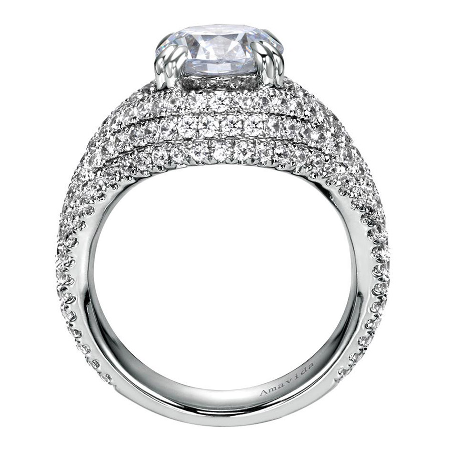 Gabriel 18 Karat Contemporary Engagement Ring ER8339W83JJ Alternative View 1
