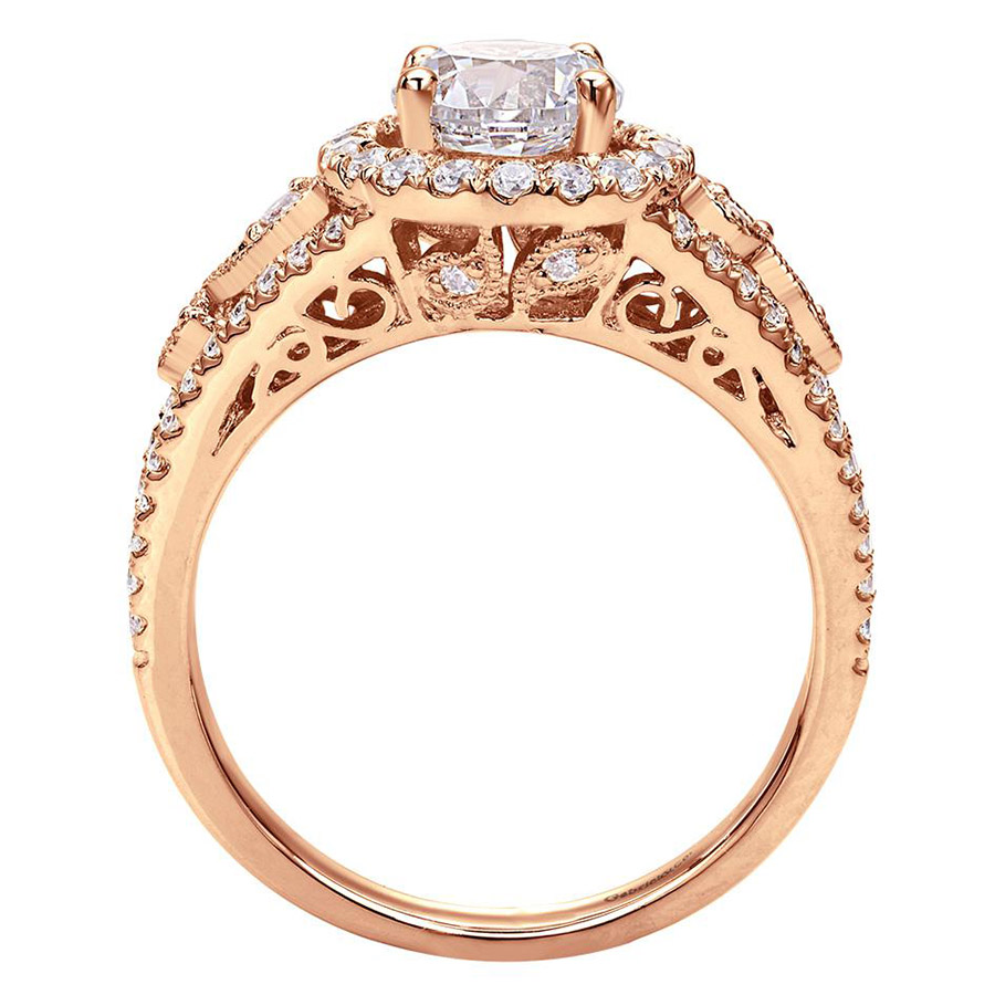 Gabriel 14 Karat Victorian Engagement Ring ER5375K44JJ Alternative View 1