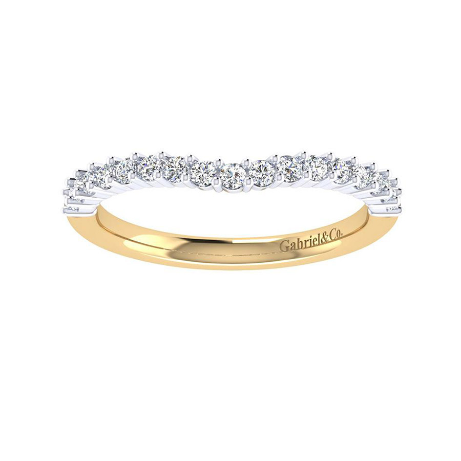 Gabriel 14 Karat Contemporary Wedding Band WB6941M44JJ Alternative View 4
