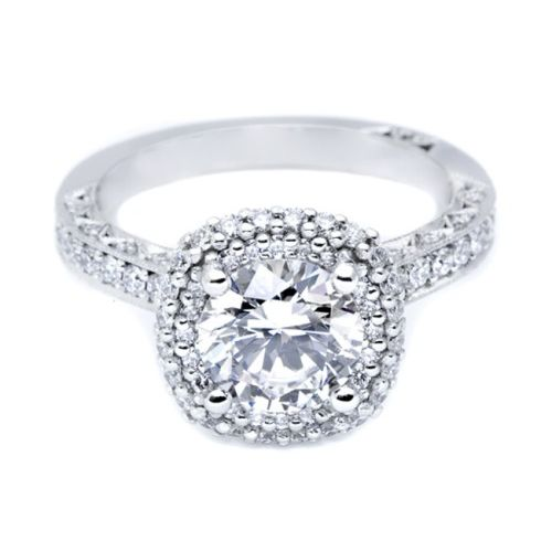 HT2522CU75 Tacori Crescent Platinum Engagement Ring Alternative View 2