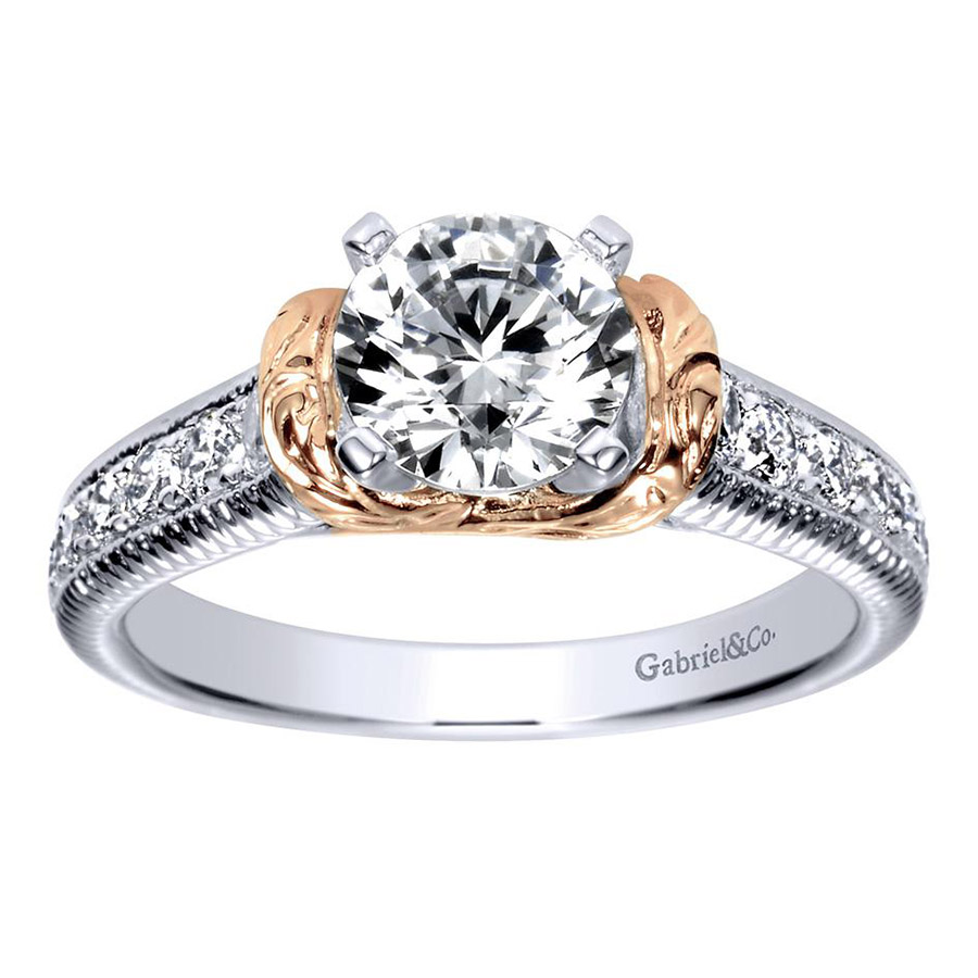 Gabriel 14 Karat Contemporary Engagement Ring ER9238T44JJ Alternative View 4