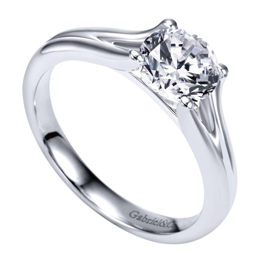 Gabriel Platinum Contemporary Engagement Ring ER7516PTJJJ Alternative View 2