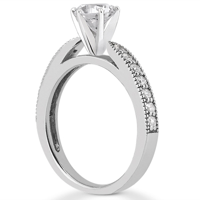Taryn Collection Platinum Diamond Engagement Ring TQD A-3771 Alternative View 1