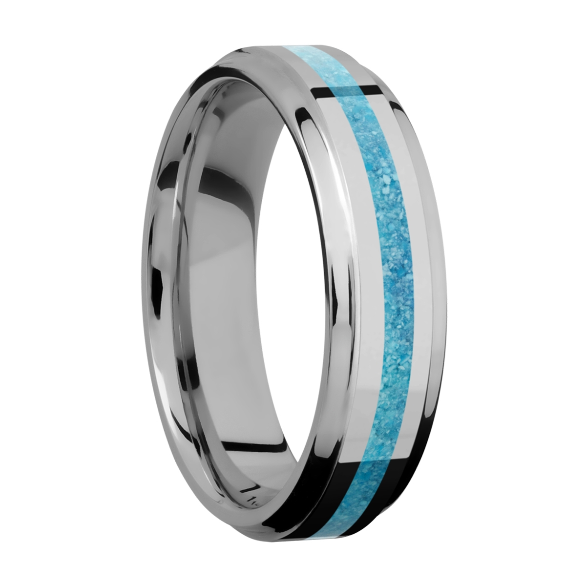 Lashbrook 6B12(S)/MOSAIC Titanium Wedding Ring or Band Alternative View 1