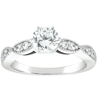 Taryn Collection Platinum Diamond Engagement Ring TQD A-5804 Alternative View 1