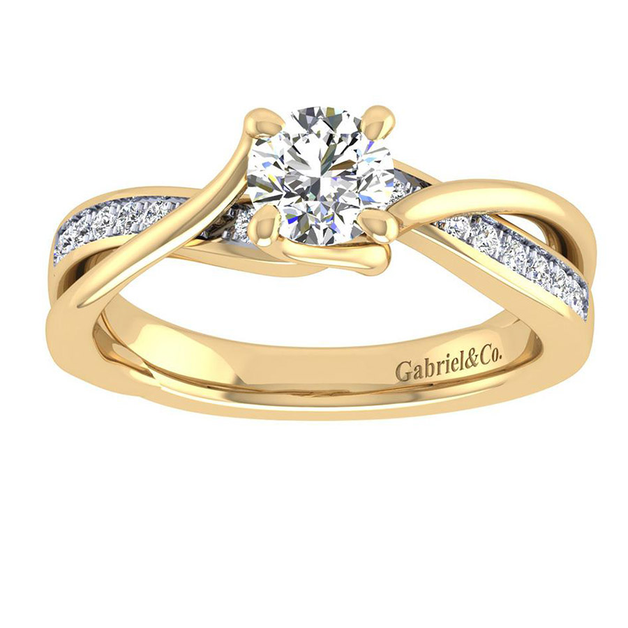 Gabriel 14 Karat Contemporary Engagement Ring ER6360Y44JJ Alternative View 4