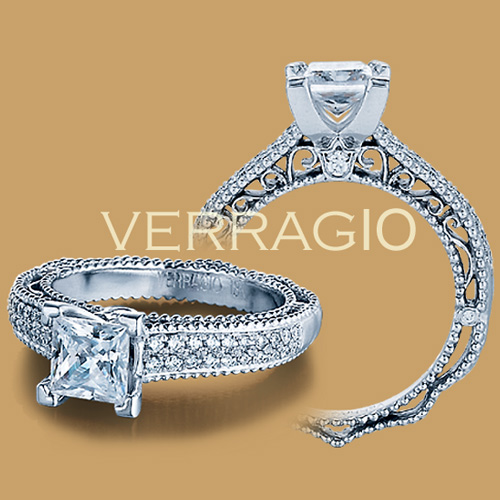 Verragio Venetian-5011P Platinum Engagement Ring Alternative View 1