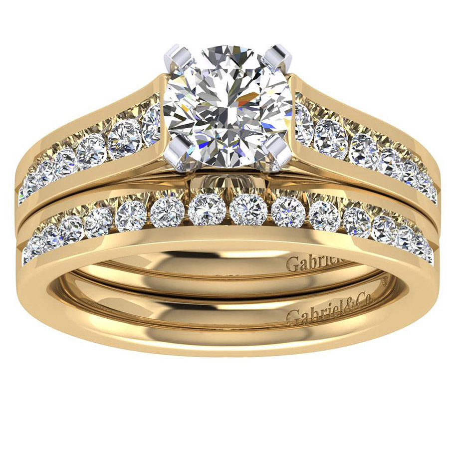 Gabriel 14 Karat Contemporary Engagement Ring ER8224M44JJ Alternative View 3