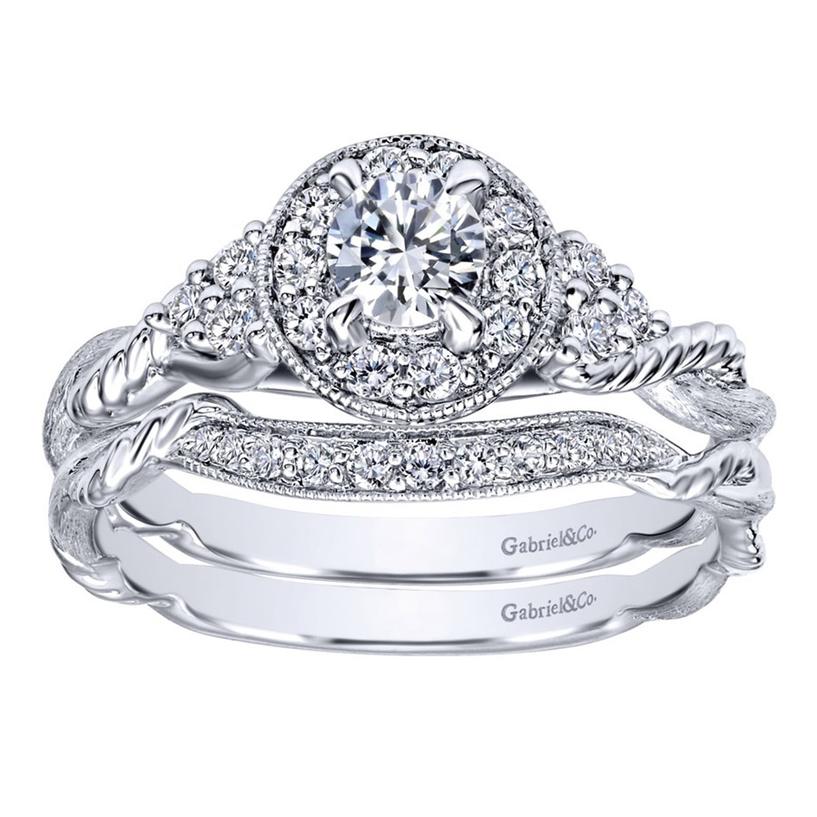 Gabriel 14 Karat Contemporary Engagement Ring ER910767W44JJ Alternative View 3