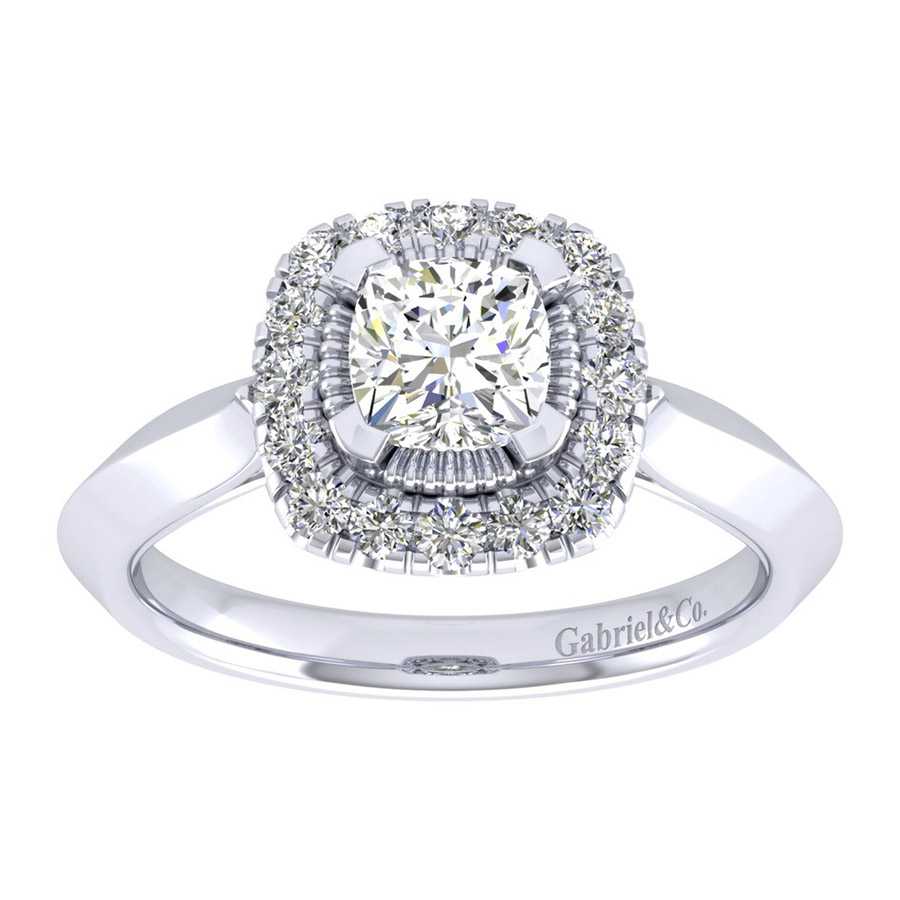 Gabriel 14 Karat Perfect Match Engagement Ring ER001B4AJW44JJ Alternative View 4