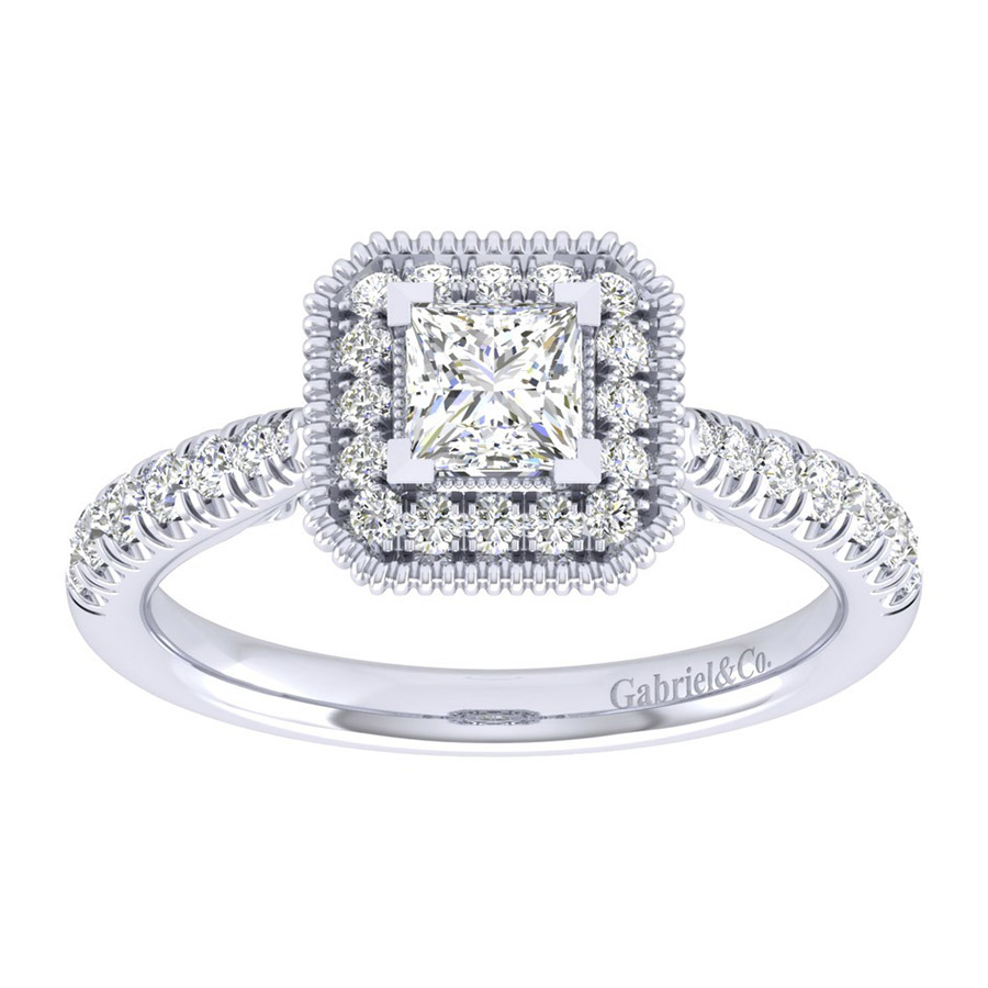 Gabriel 14 Karat Perfect Match Engagement Ring ER039A2ALW44JJ Alternative View 4