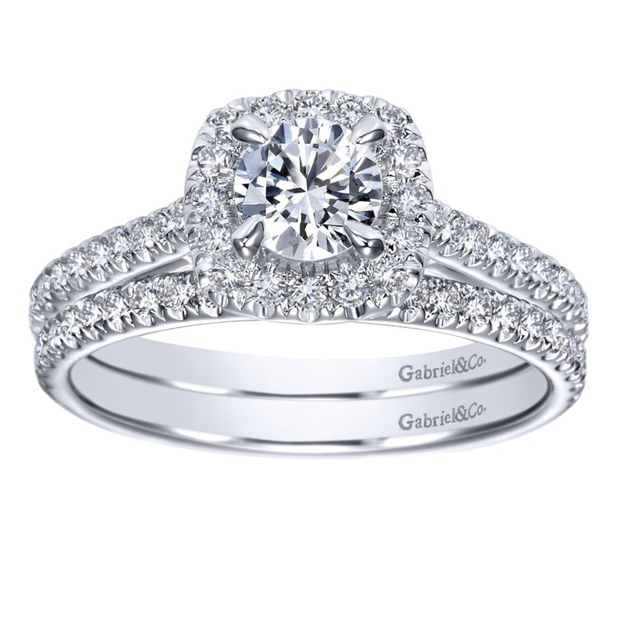 Gabriel 14 Karat Contemporary Engagement Ring ER98520W44JJ Alternative View 3