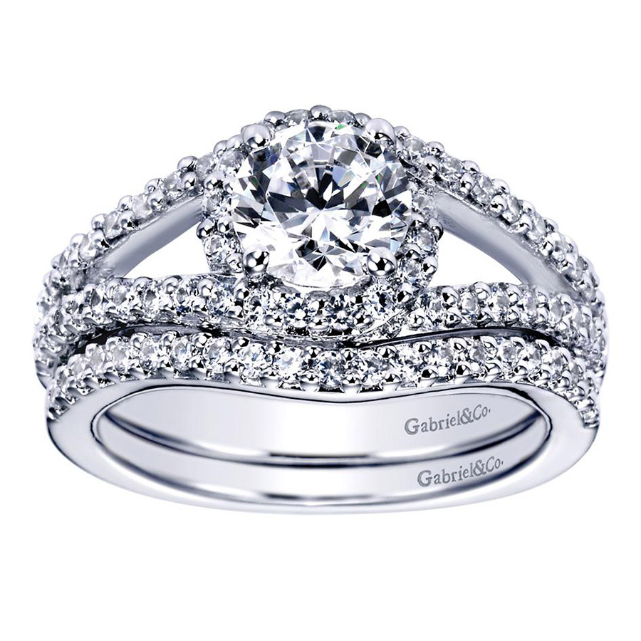 Gabriel 14 Karat Contemporary Engagement Ring ER5999W44JJ Alternative View 3