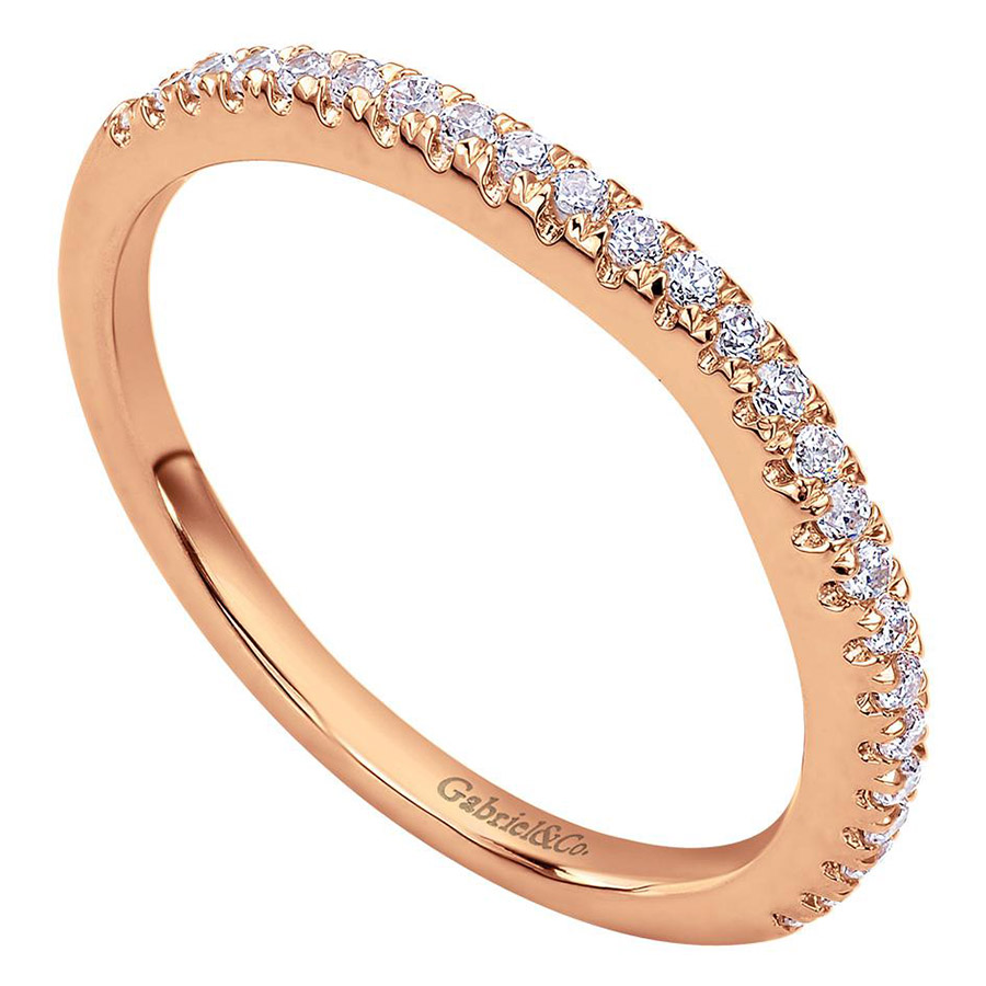 Gabriel 14 Karat Contemporary Wedding Band WB8152K44JJ Alternative View 2