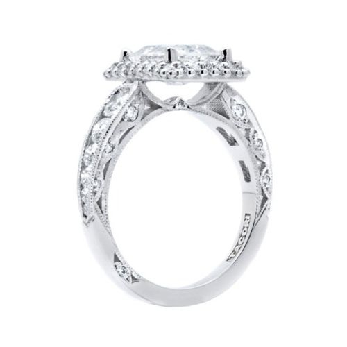 HT2521EC85X65 Tacori Crescent Platinum Engagement Ring Alternative View 1