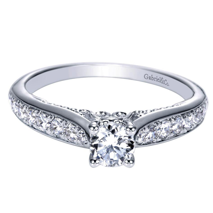Gabriel 14 Karat Contemporary Engagement Ring ER98553W44JJ
