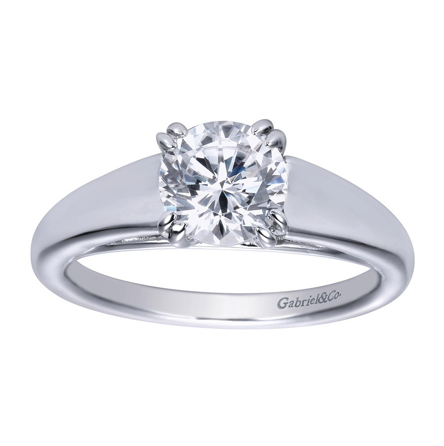 Gabriel Platinum Contemporary Engagement Ring ER8137PTJJJ Alternative View 4